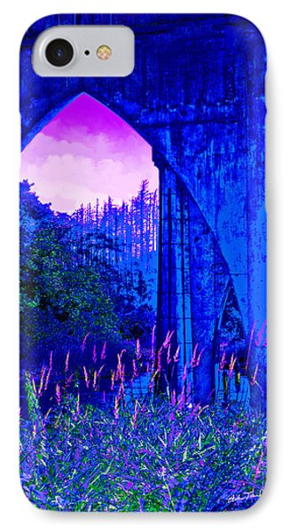 IPhone Case featuring the photograph Blue Bridge by Adria Trail