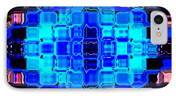 IPhone Case featuring the digital art Blue Bubble Glass by Anita Lewis