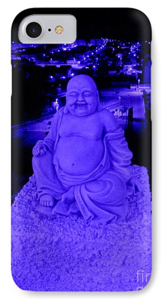Blue Buddha And The Blue City IPhone Case
