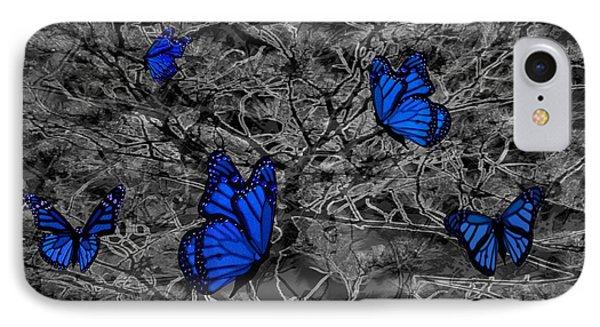 Blue Butterflies 2 Phone Case by Barbara St Jean