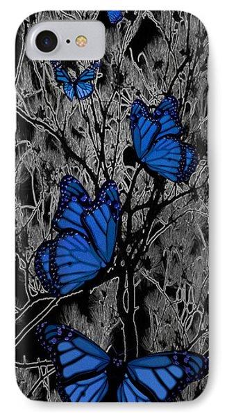 Blue Butterflies Phone Case by Barbara St Jean