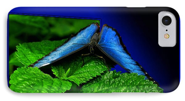 Blue Butterfly 02 Phone Case by Thomas Woolworth