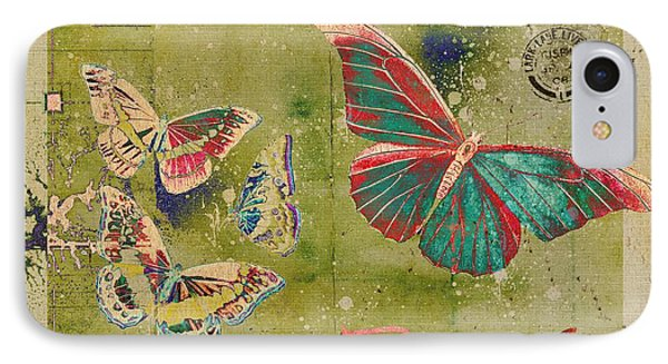 Blue Butterfly Etc - S55ct01 Phone Case by Variance Collections