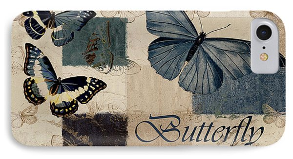 Blue Butterfly - J118118115-01a Phone Case by Variance Collections