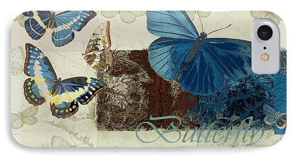 Blue Butterfly - J152164152-01 Phone Case by Variance Collections