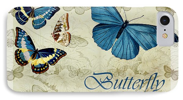 Blue Butterfly - S01a Phone Case by Variance Collections