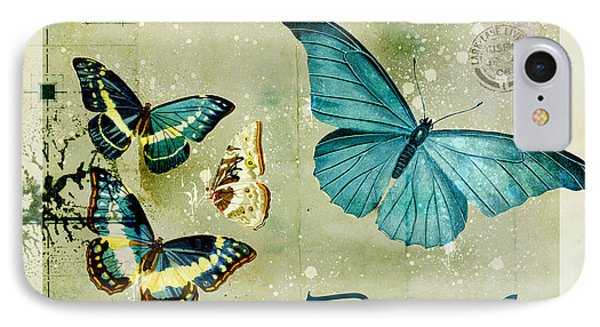 Butterfly iPhone 7 Case - Blue Butterfly - S55c01 by Variance Collections