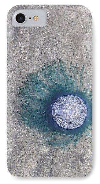 Blue Button Jellyfish IPhone Case