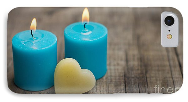 Blue Candles IPhone Case by Aged Pixel