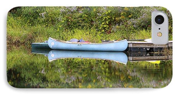 Blue Canoe Phone Case by Deborah Benoit