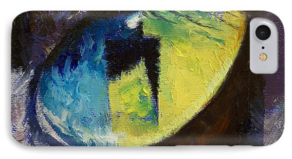 Blue Cat Eye Phone Case by Michael Creese