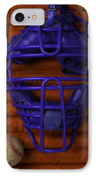 Blue Catchers Mask IPhone Case by Garry Gay