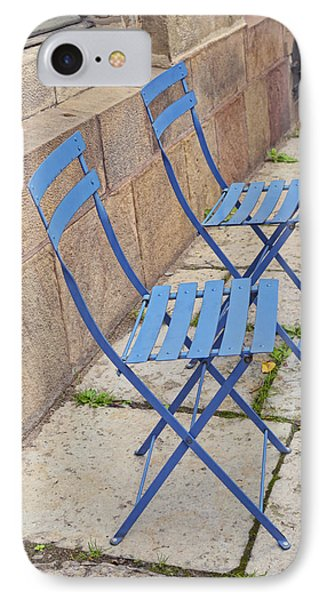 Blue Chairs 2 Stockholm Sweden Phone Case by Marianne Campolongo