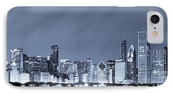 Blue Chicago Skyline IPhone Case by Sebastian Musial