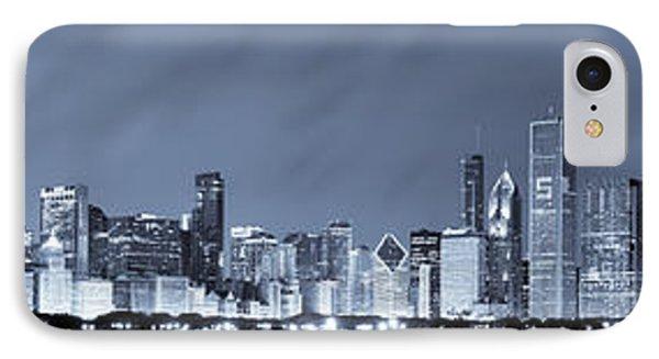 Blue Chicago Skyline IPhone Case