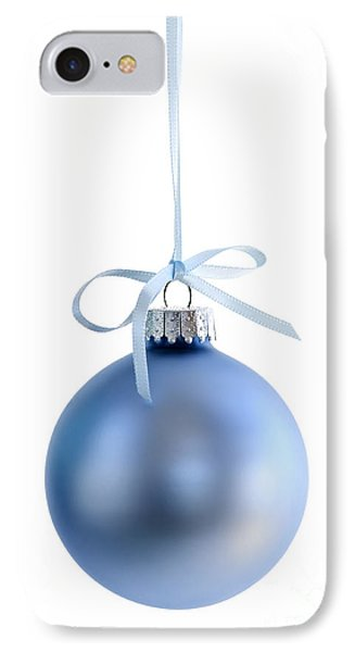Blue Christmas Bauble IPhone Case