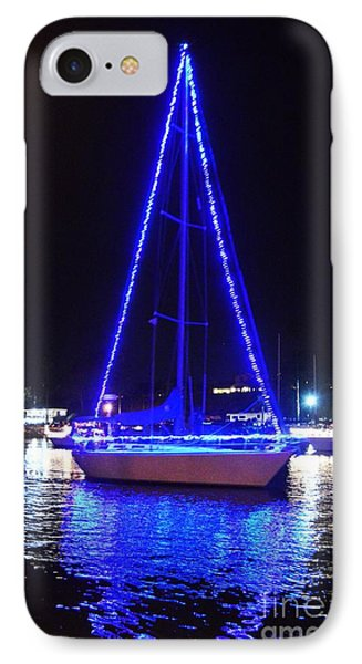 IPhone Case featuring the photograph Blue Christmas  by Laurie L