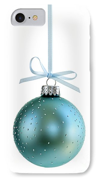 Blue Christmas Ornament IPhone Case