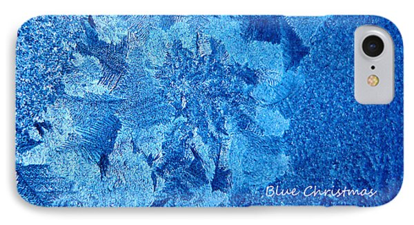 IPhone Case featuring the photograph Blue Christmas by Rhonda McDougall
