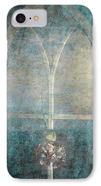Blue Church Window And Hydrangea IPhone Case by Suzanne Powers
