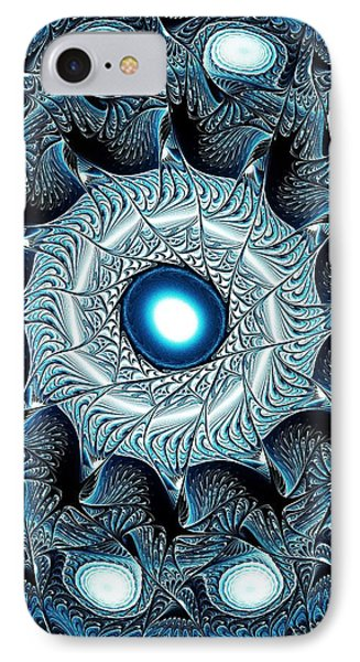 Blue Circle Phone Case by Anastasiya Malakhova