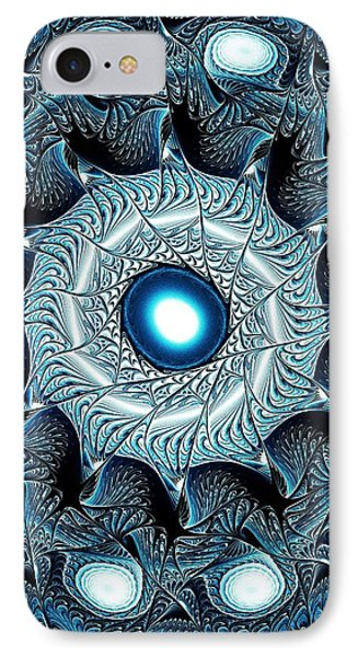 Blue Circle IPhone Case by Anastasiya Malakhova