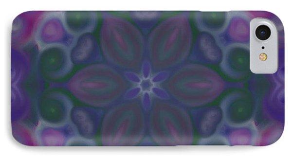 Blue Circle Mandala Phone Case by Karen Buford