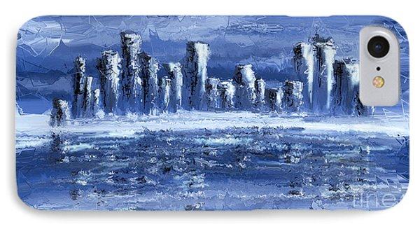 Blue City IPhone Case by Svetlana Sewell