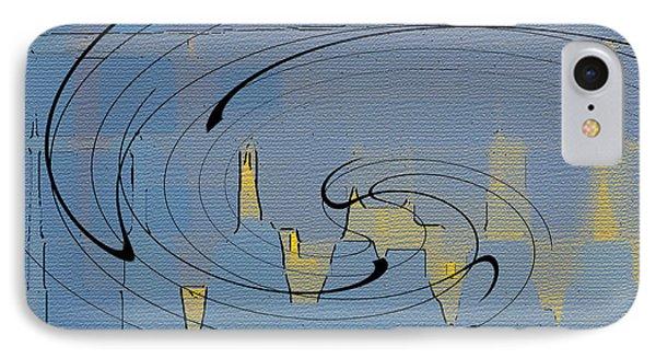 Blue Cityscape Phone Case by Ben and Raisa Gertsberg