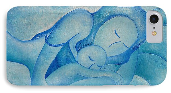 Blue Co Sleeping IPhone Case by Gioia Albano