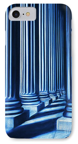 Blue Columns Original Pastel Art IPhone Case