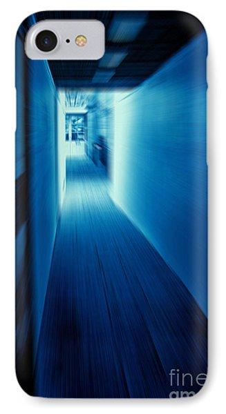 Blue Corridor IPhone Case