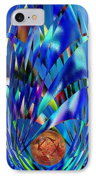 Blue Cosmic Egg - Abstract IPhone Case