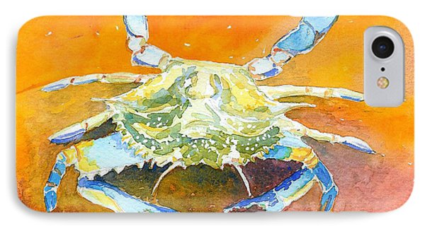 Blue Crab IPhone Case by Anne Marie Brown