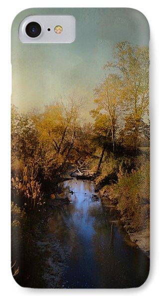 Blue Creek In Autumn IPhone Case