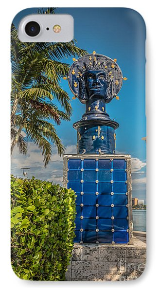 Blue Crown Statue Miami Downtown Phone Case by Ian Monk