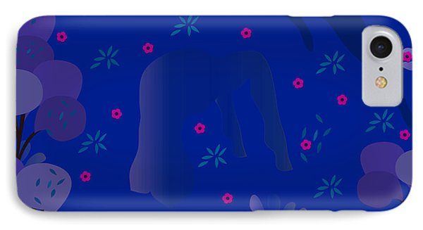 Blue Dance - Limited Edition  Of 30 IPhone Case by Gabriela Delgado