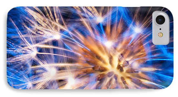 Blue Dandelion Up Close IPhone Case by Todd Soderstrom