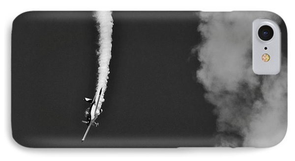 Blue Daredevil In Bw IPhone Case