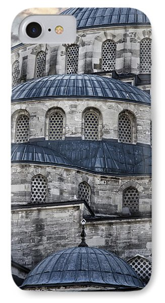 Blue Dawn Blue Mosque Phone Case by Joan Carroll