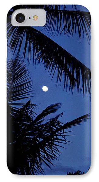 IPhone Case featuring the photograph Blue Dawn Moon by Lehua Pekelo-Stearns