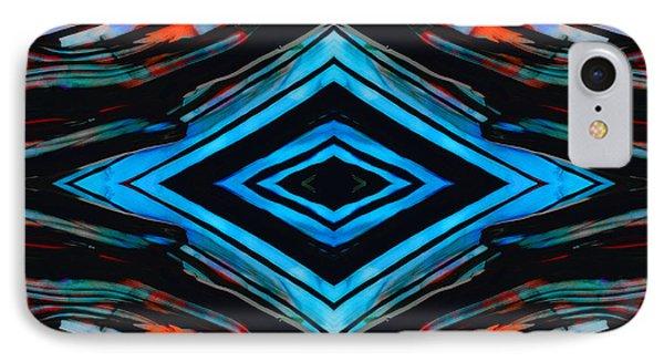 Blue Diamond Art By Sharon Cummings IPhone Case by Sharon Cummings