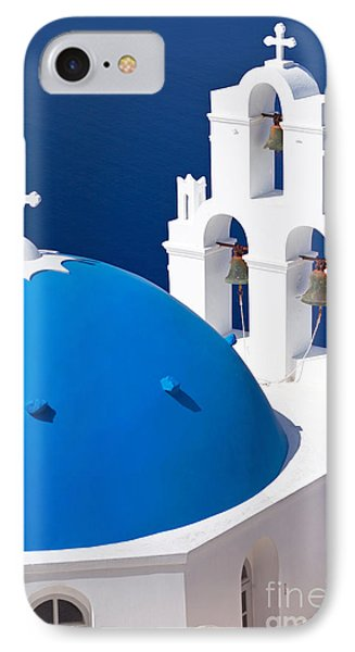Blue Dome Church IPhone Case by Aiolos Greek Collections