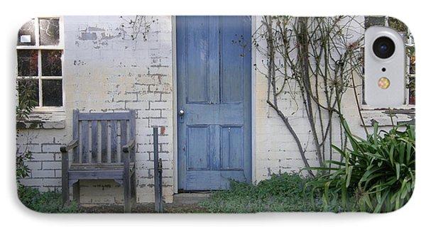 Blue Door IPhone Case by Bev Conover