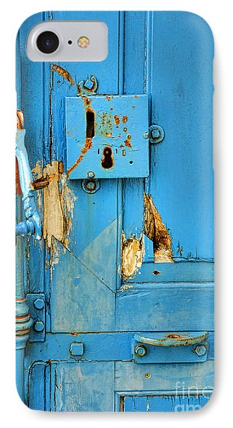Blue Door Blues IPhone Case by Olivier Le Queinec