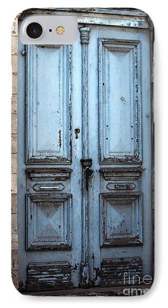 Blue Door In Limassol Phone Case by John Rizzuto