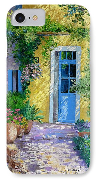 Blue Door IPhone Case by Jean-Marc Janiaczyk