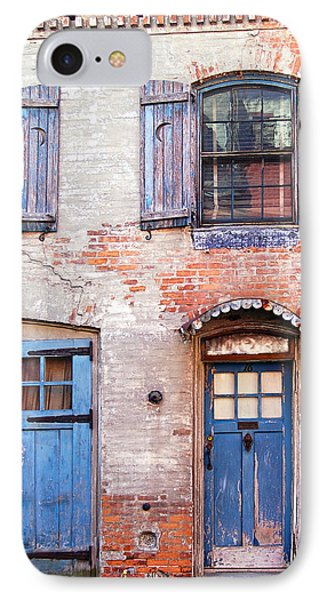 Blue Door Red Wall IPhone Case
