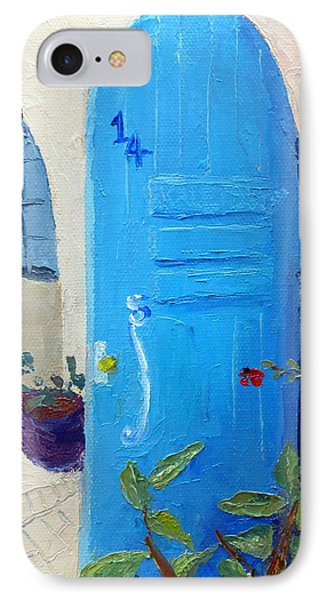 Blue Door IPhone Case by Susan Woodward