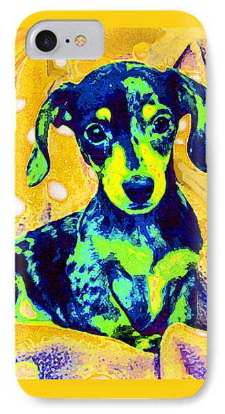Blue Doxie IPhone Case by Jane Schnetlage